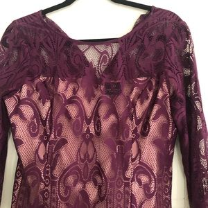 Purple lace dress - Size 12p